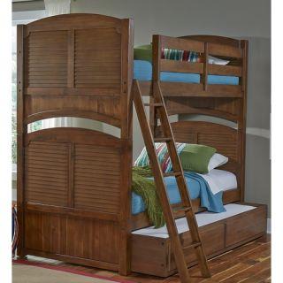 My Home Furnishings Neopolitan Twin Bunk Bed Customizable Bedroom Set