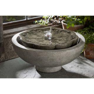 Campania International, Inc Garden Terrace Cast Stone Flores Fountain