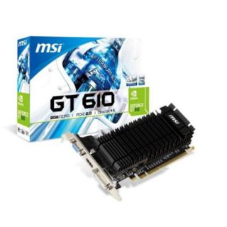 Msi N610 1gd3h/lp Geforce Gt 610 Graphic Card   810 Mhz Core   2 Gb Ddr3 Sdram   Pci Express 2.0 X16   Low profile   Single Slot Space Required   1334 Mhz Memory Clock   2560 X 1600   (n610 2gd3h lp)
