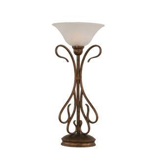 23.25 in Bronze Touch Indoor Table Lamp with Glass Shade