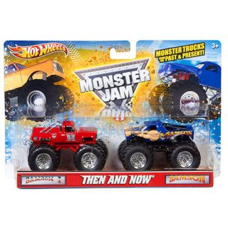 Hot Wheels Monster Jam Then and Now Trucks, 2 Pack