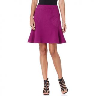 Wendy Williams Fit and Flare Ponte Skirt   7792733