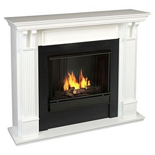 Real Flame Ashley Gel Fuel Fireplace; White