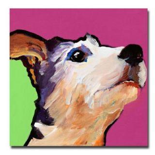 Trademark Fine Art 24 in. x 24 in. Ollie Canvas Art PS093 C2424GG