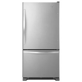 Whirlpool 18.7 cu ft Bottom Freezer Refrigerator with Single Ice Maker (Stainless Steel) ENERGY STAR
