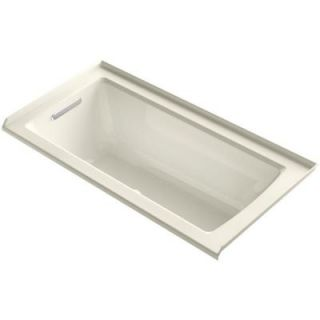 KOHLER Archer 5 ft. Walk In Whirlpool and Air Bath Tub in Biscuit K 1947 GLF 96