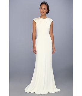 Badgley Mischka Art Deco Beaded Cap Sleeve Dress