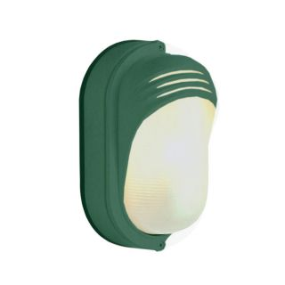 Cambridge 1 light Verde Green Outdoor Flush Mount with Clear Ribbed