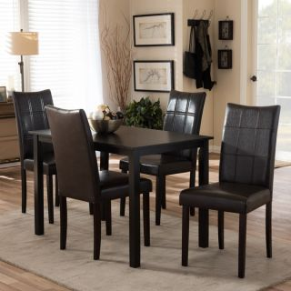 Eugene Dark Brown 5 piece Modern Dining Set   13350129