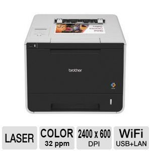 Brother HL L8350CDW Wireless Color Laser Printer with Duplex   up to 32 ppm Black & Color, 250 sheet paper tray, Mobile Printing