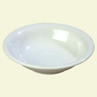 Carlisle 12 oz., 7.25 in. Diameter Wide Rim Melamine Rimmed Bowl in White (Case of 24) 3303602
