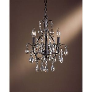 Minka Lavery MIN 3122 301 Universal Castlewood Walnut with Silver Highlights  Mini Chandeliers Lighting