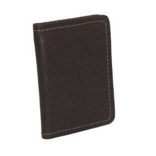 CTM® Men's Leather Money Clip BiFold Front Pocket Wallet