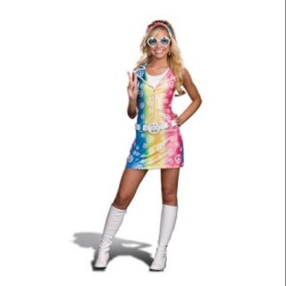 Sassy Polly Ester Retro 60's 70's Peace Sign Junior Dress Costume X Small