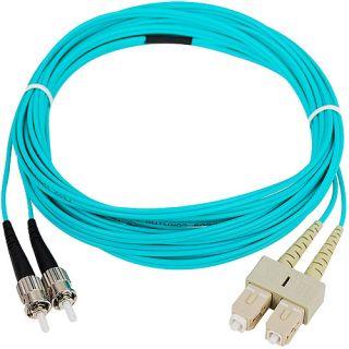 5M 10 Gb Aqua Multimode 50/125 Duplex Fiber Patch Cable Sc/St