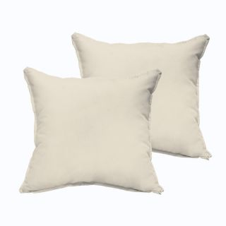Sloane Ivory 20 x 20 inch Indoor/ Outdoor Flange Edge Pillow Set