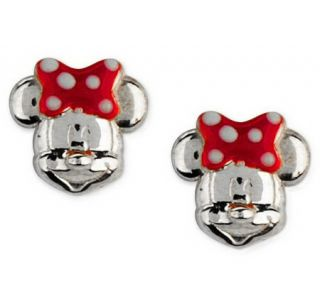 Disney Sterling Silver Mickey or Minnie Mouse Stud Earrings —