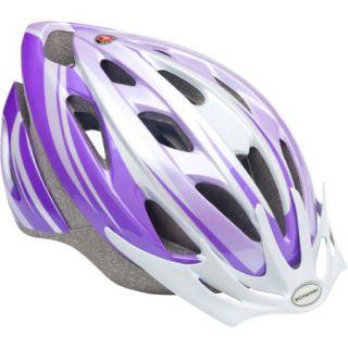 Schwinn Thrasher Girls' Bicycle Helmet, Purple/White, Youth