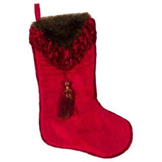 Selections by Chaumont Christmas Noel Fur Velvet Stocking   13902464