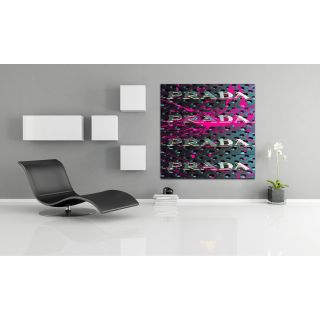 Kissed in Chrome Graphic Art on Canvas by Fluorescent Palace