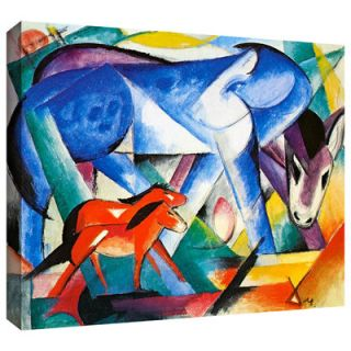 The First Animals by Franz Marc Gallery Wrapped on Canvas by ArtWall