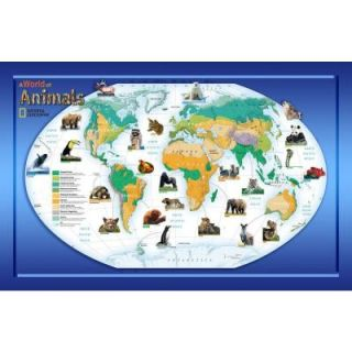 National Geographic 48 in. x 72 in. A World of Animals Wall Mural NG94614