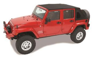 Bestop   Bestop Trektop Soft Top (Matte Black Twill) NX Style, 56923 17   Fits 2007 to 2016 Wrangler Unlimited and Rubicon Unlimited