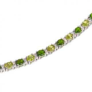 """Colleen Lopez """"I Wish I May"""" 9.17ctw Peridot and Chrome Diopside Sterling Silve   8066477"""