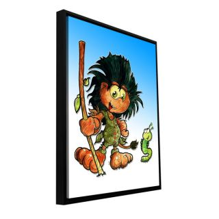 Luis Peres Kid Troll Floater framed Gallery wrapped Canvas