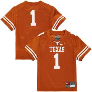 #1 Texas Longhorns Nike Toddler Replica Football Jersey   Texas Orange