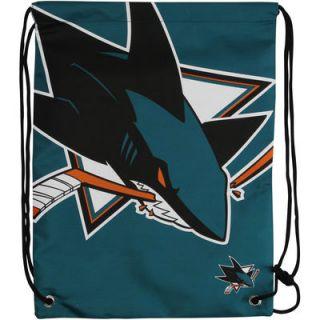 San Jose Sharks Big Logo Drawstring Backpack   Teal