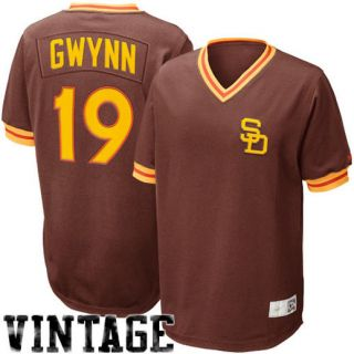 Nike Tony Gwynn San Diego Padres Cooperstown Throwback Jersey   Brown