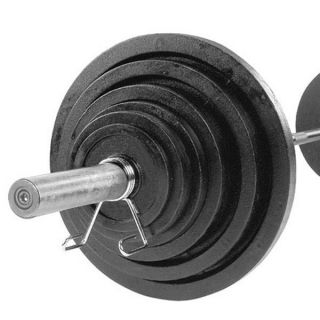 300 lbs Cast Olympic Set with Chrome Bar by Body Solid