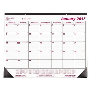 ® Desk Pad Calendar, Chipboard, 22 x 17, 2016