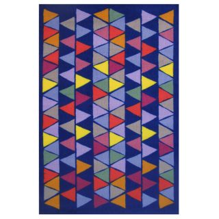 Pyramid Party Blue Accent Rug (16 x 24)   16750299
