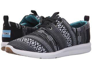 TOMS Del Rey Sneaker Black/White Cultural Woven