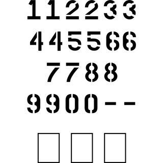 "Stencil Ease 6"" Parking Lot Number Stencil"