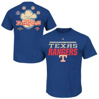 Texas Rangers Cooperstown Collection Call Bullpen T Shirt   Blue
