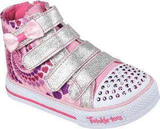 Infant/Toddler Girls Skechers Twinkle Toes Shuffles Lil Skippers High Top