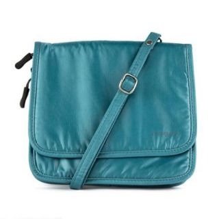 Travelon Safe ID Hack Proof Expandable Cross Body Bag with RFID Blocking (Teal)