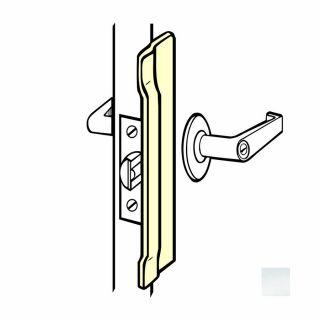 DON JO 10 in H x 1.5 in W Silver Coated Steel Outswing Commercial Door Latch Guard