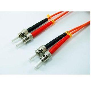 Comprehensive 30m/98.42 ST to ST OM1 MM 3.0mm Duplex Plenum Patch Cable ST ST MMP 30M