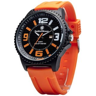 Smith and Wesson EGO Series Watch with Orange Silicon Strap   17492014