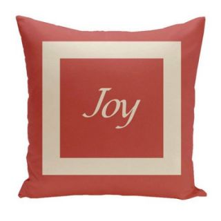 E By Design Holiday Brights Joy Euro Pillow