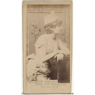 Card Number 343 Lillian Grubb from the Actors and Actresses series (N145 3) issued by Duke Sons & Co. to promote Cross Cut Cigarettes Poster Print (18 x 24)