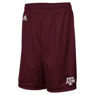 Texas A&M Aggies adidas One Color Icon Mesh Shorts   Maroon
