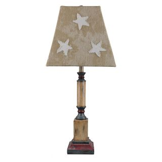 A Homestead Shoppe independence Table Lamp   Star Canvas Shade   Table Lamps