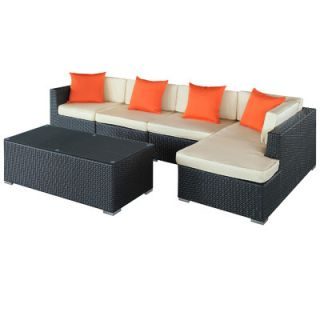 Modway El 5 Piece Sectional Deep Seating Group with Cushions