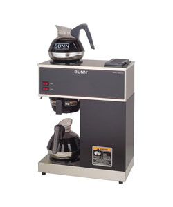 Bunn Stainless Steel Pourover Commercial Coffee Brewer with Two