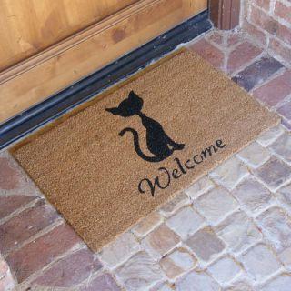 Rubber Cal, Inc. Meow Cat Welcome Doormat